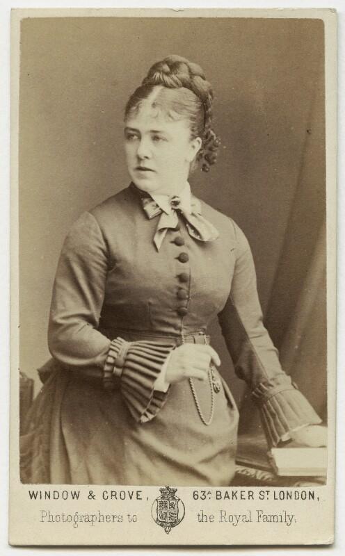 Marie Effie (née Wilton), Lady Bancroft, by Window & Grove, circa 1874 - NPG Ax18187 - © National Portrait Gallery, London