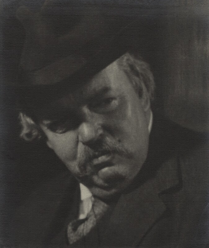 G.K. Chesterton, by Howard Coster, 1926 - NPG Ax2260 - © National Portrait Gallery, London