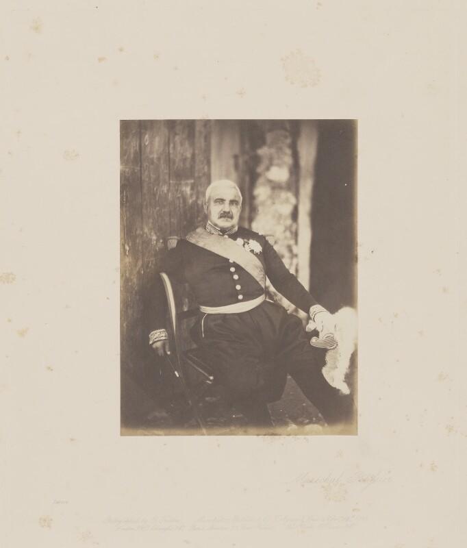 Aimable Jean Jacques Pélissier, 1st duc de Malakoff, by Roger Fenton, 1855 - NPG Ax24902 - © National Portrait Gallery, London