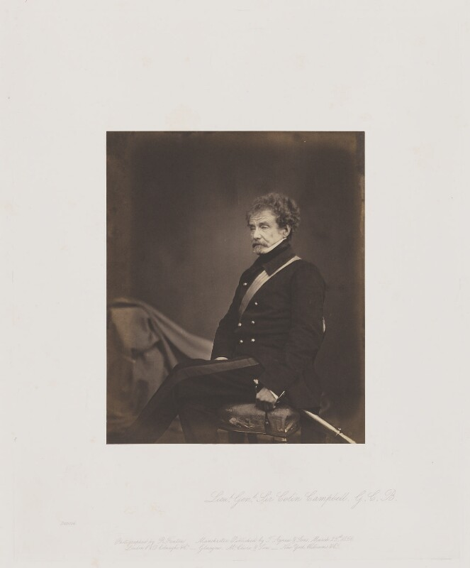 Colin Campbell, 1st Baron Clyde, by Roger Fenton, 1855 - NPG Ax24912 - © National Portrait Gallery, London