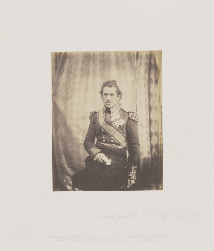 Sir George de Lacy Evans, by Roger Fenton, 1855 - NPG Ax24919 - © National Portrait Gallery, London