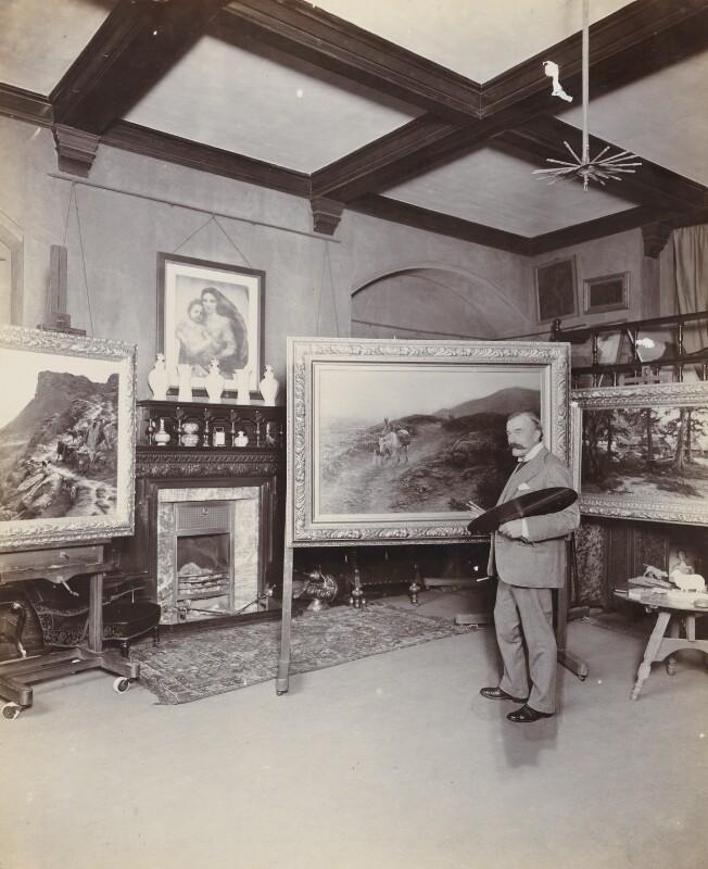 Joseph Farquharson, by Frederic G. Hodsoll, 1900s - NPG Ax25162 - © National Portrait Gallery, London