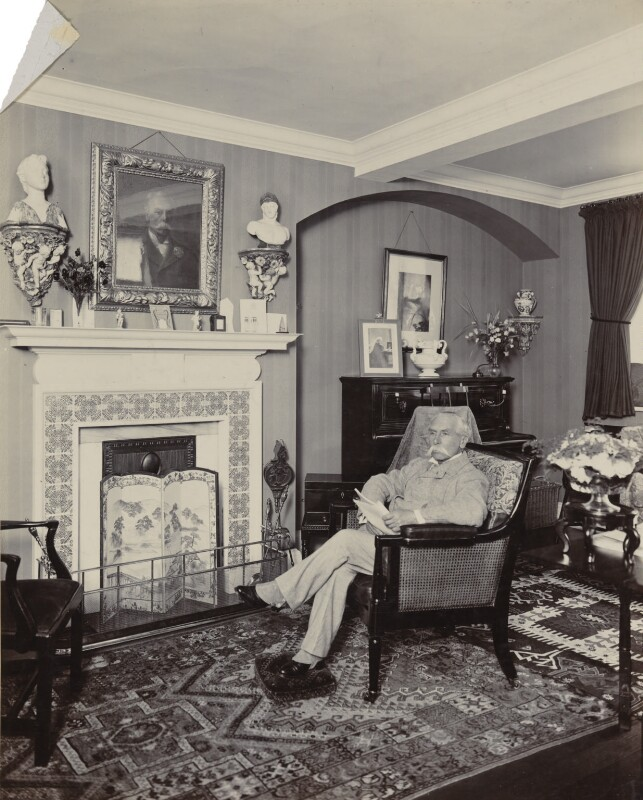 Alfred Austin, by Frederic G. Hodsoll, 1903 - NPG Ax25174 - © National Portrait Gallery, London