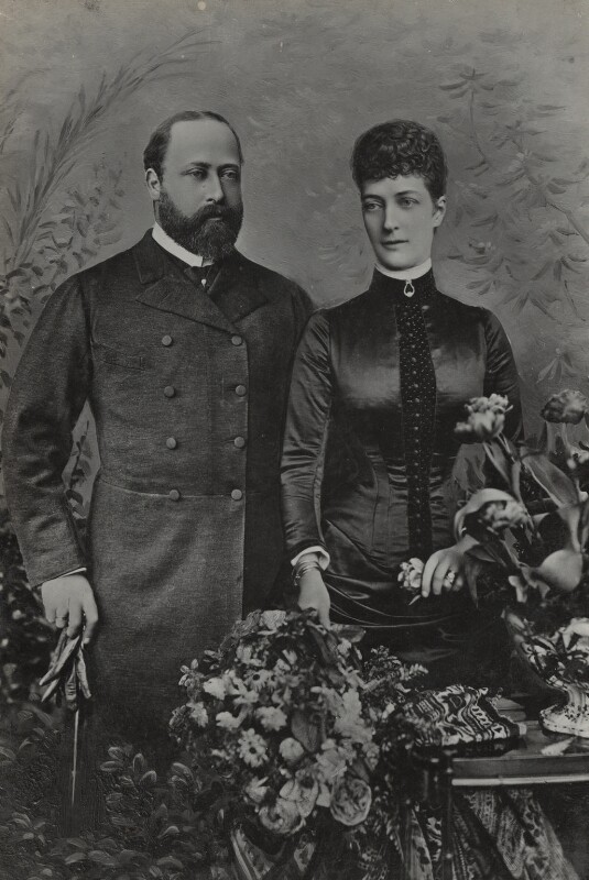 King Edward VII; Queen Alexandra, by Lafayette, 1885 - NPG Ax26439 - © National Portrait Gallery, London