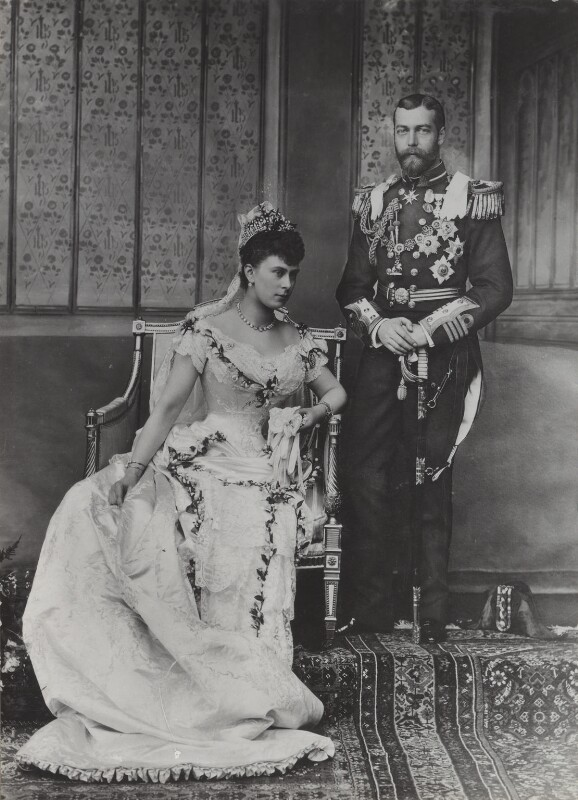 Queen Mary; King George V, by Lafayette, 6 July 1893 - NPG Ax26483 - © National Portrait Gallery, London