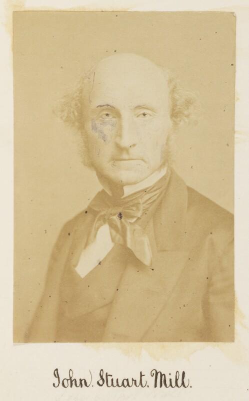 John Stuart Mill, by Unknown photographer,  - NPG Ax27718 - © National Portrait Gallery, London