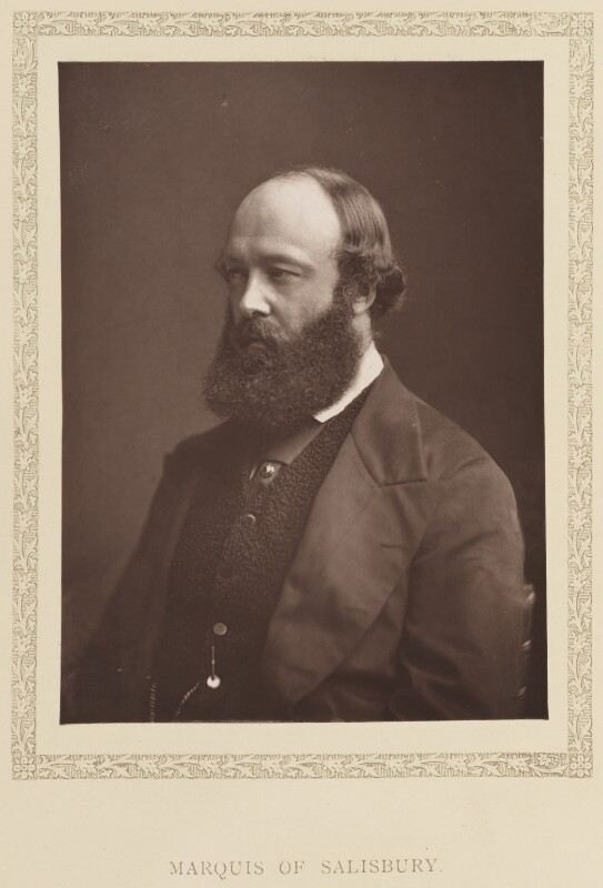 Robert Gascoyne-Cecil, 3rd Marquess of Salisbury, by London Stereoscopic & Photographic Company, published 1881 - NPG Ax27780 - © National Portrait Gallery, London