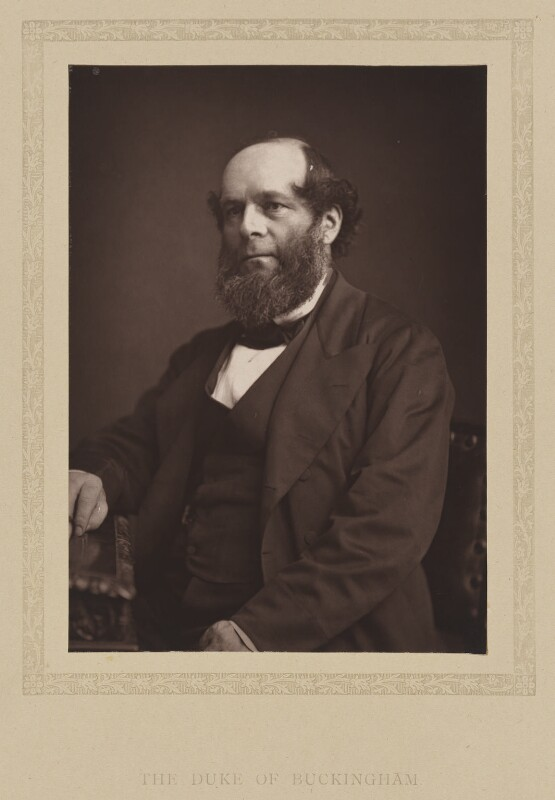 Richard Grenville, 3rd Duke of Buckingham and Chandos, by London Stereoscopic & Photographic Company, published 1881 - NPG Ax27797 - © National Portrait Gallery, London