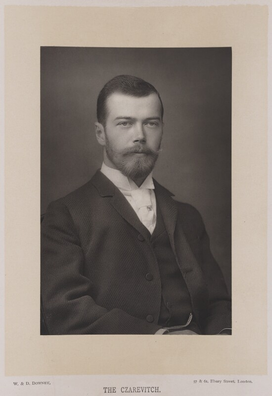 Nicholas II, Emperor of Russia, by W. & D. Downey, published by  Cassell & Company, Ltd, 1893, published 1894 - NPG Ax27893 - © National Portrait Gallery, London