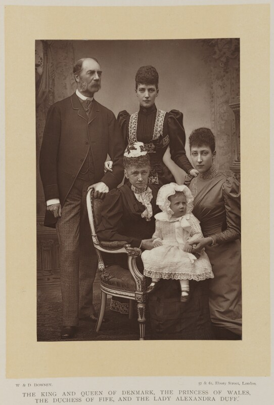 Alexandra of Denmark with members of her family, by W. & D. Downey, published by  Cassell & Company, Ltd, 1893, published 1894 - NPG Ax27899 - © National Portrait Gallery, London