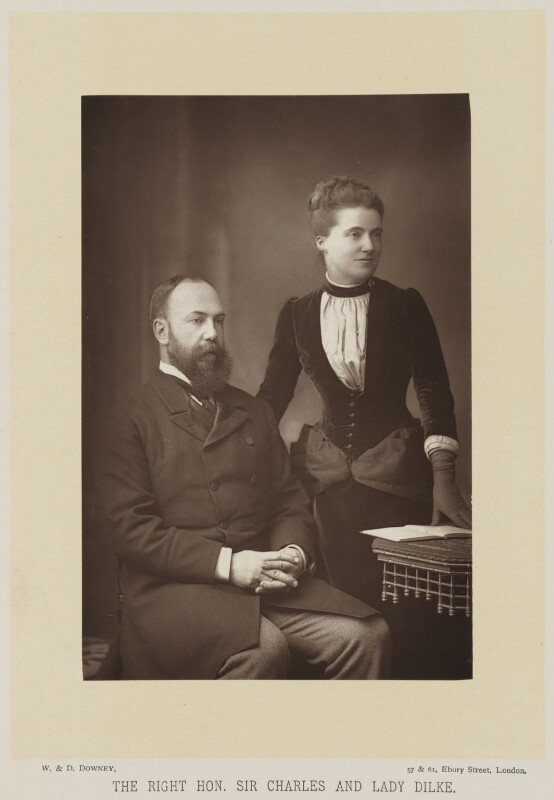 Sir Charles Wentworth Dilke, 2nd Bt; Emilia Francis (née Strong), Lady Dilke, by W. & D. Downey, published by  Cassell & Company, Ltd, published 1894 - NPG Ax27920 - © National Portrait Gallery, London