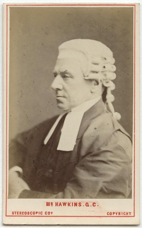 Henry Hawkins, Baron Brampton, by London Stereoscopic & Photographic Company, 1872 - NPG Ax28433 - © National Portrait Gallery, London