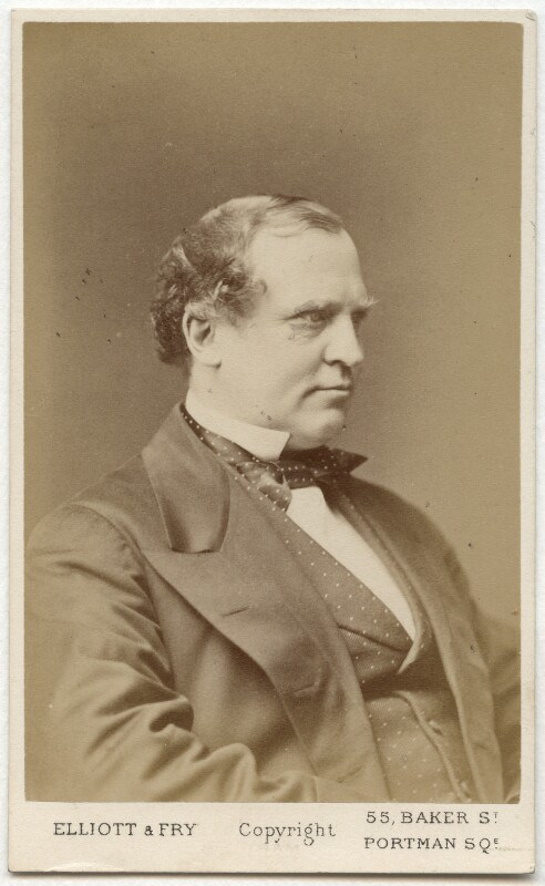 Edward Henry Stanley, 15th Earl of Derby, by Elliott & Fry, 1870? - NPG Ax28459 - © National Portrait Gallery, London