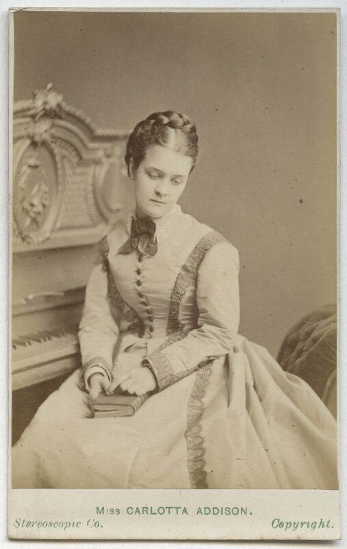 Carlotta Addison (Mrs Charles La Trobe) as Rose Redlipp in 'Forgiven', by London Stereoscopic & Photographic Company, 1872 - NPG Ax28491 - © National Portrait Gallery, London