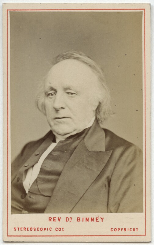 Thomas Binney (Benny), by London Stereoscopic & Photographic Company, before 1874 - NPG Ax28539 - © National Portrait Gallery, London