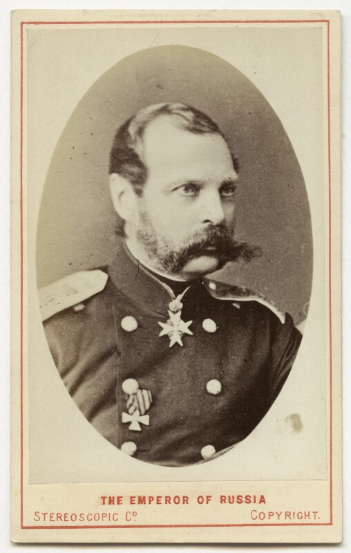 Alexander II, Emperor of Russia, by London Stereoscopic & Photographic Company, 1874 or before - NPG Ax28551 - © National Portrait Gallery, London