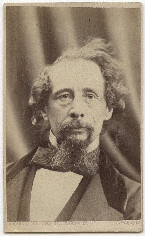 Charles Dickens, by Herbert Watkins, (29 April 1858) - NPG Ax28569 - © National Portrait Gallery, London