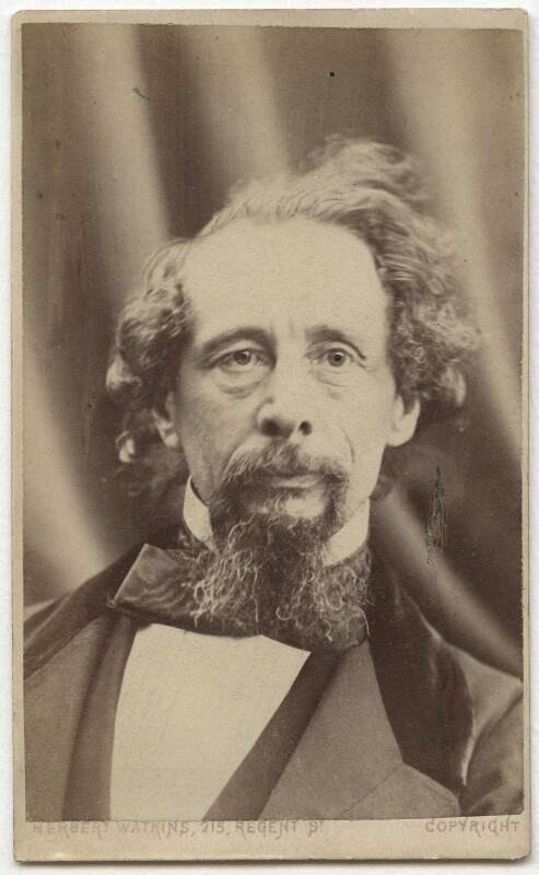 Charles Dickens, by (George) Herbert Watkins, (29 April 1858) - NPG Ax28569 - © National Portrait Gallery, London
