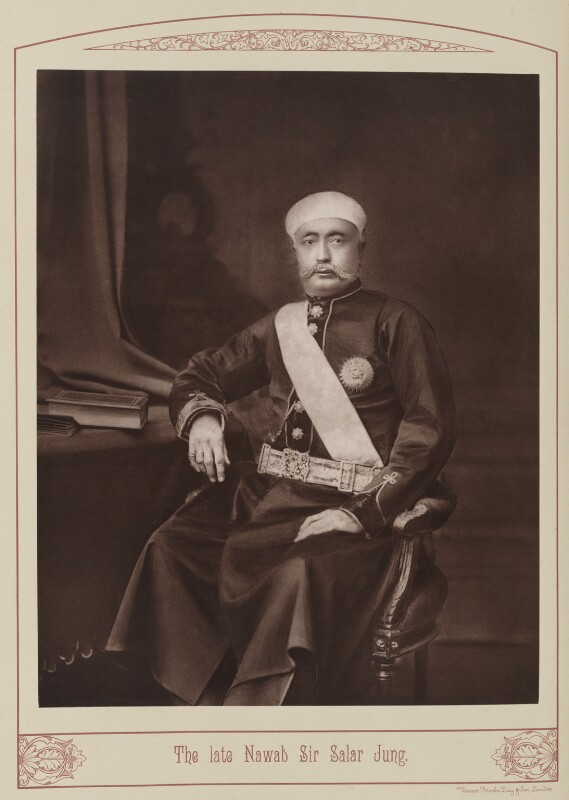 Sir Salar Jung, by Unknown photographer, published 1889 - NPG Ax28679 - © National Portrait Gallery, London