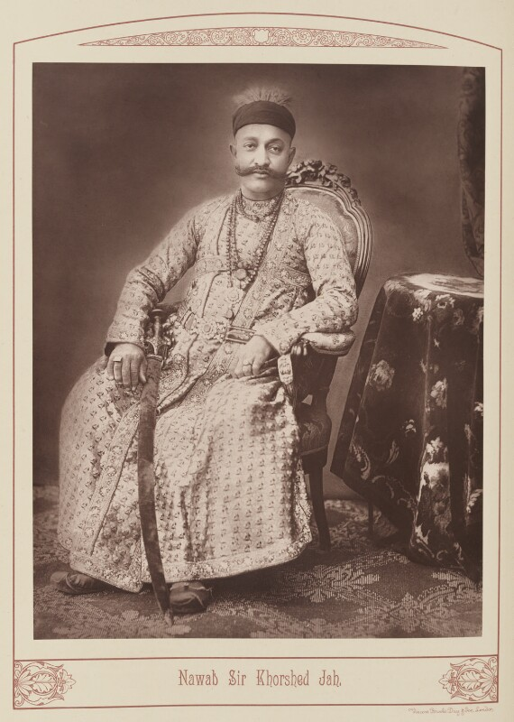 Sir Khurshed Jah of Hyderabad, by Unknown photographer, published 1889 - NPG Ax28686 - © National Portrait Gallery, London