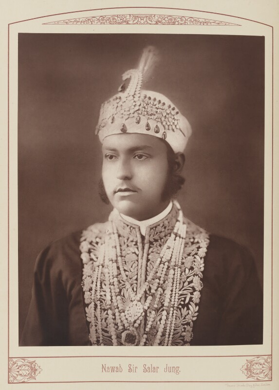 Sir Salar Jung (Mir Laiq Ali Khan Salar Jung II), by Unknown photographer, published 1889 - NPG Ax28688 - © National Portrait Gallery, London
