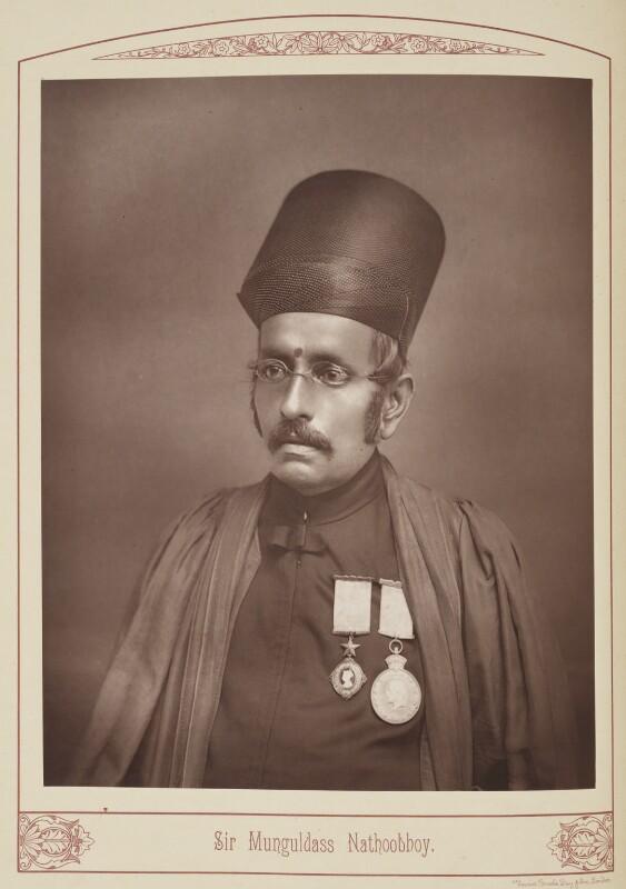 Sir Munguldas Nathoobhoy, by Unknown photographer, published 1889 - NPG Ax28693 - © National Portrait Gallery, London
