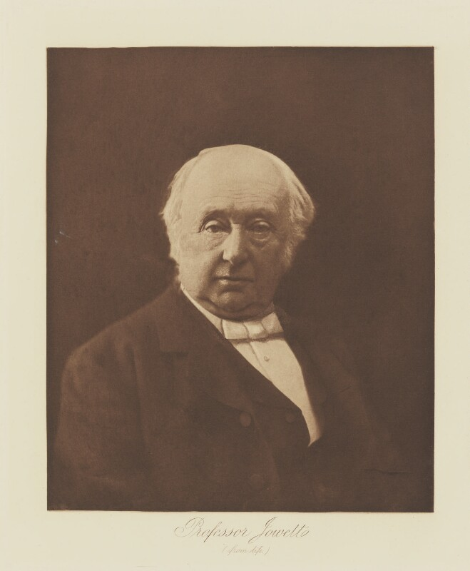 Benjamin Jowett, by Henry Herschel Hay Cameron (later The Cameron Studio), published by  T. Fisher Unwin, published 1893 - NPG Ax29141 - © National Portrait Gallery, London