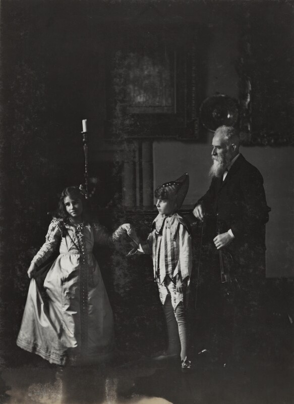 Mr Neal; Sir David Bowes-Lyon; Queen Elizabeth, the Queen Mother, by Lafayette (Lafayette Ltd), 1909 - NPG Ax29343 - © National Portrait Gallery, London
