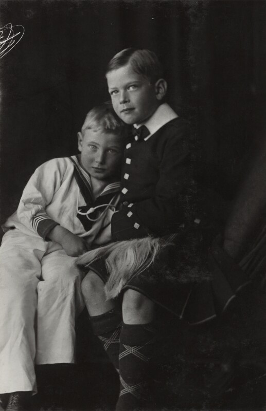 Prince George, Duke of Kent; Prince John, by Lafayette (Lafayette Ltd), 1909 - NPG Ax29366 - © National Portrait Gallery, London