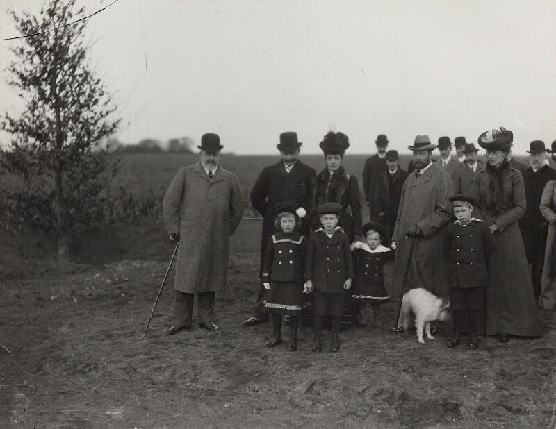 Royal Family group, by Lafayette (Lafayette Ltd), 9 November 1902 - NPG Ax29373 - © National Portrait Gallery, London