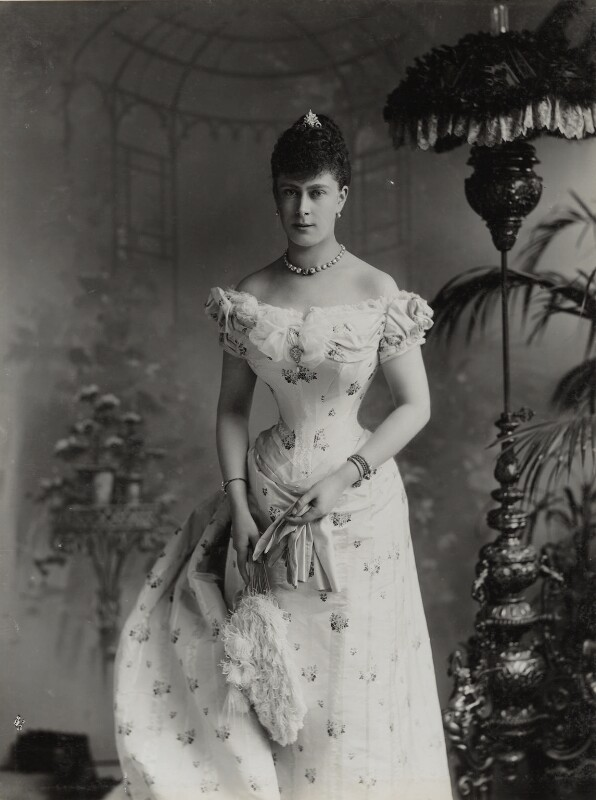 Queen Mary, by Lafayette, 6 July 1893 - NPG Ax29379 - © National Portrait Gallery, London