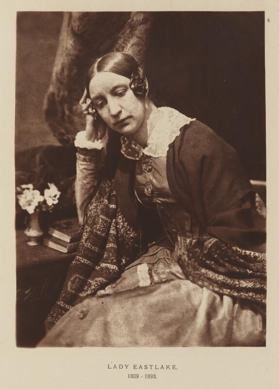 Elizabeth, Lady Eastlake (née Rigby), after David Octavius Hill, and  Robert Adamson, 1843-1848; published 1928 - NPG Ax29534 - © National Portrait Gallery, London