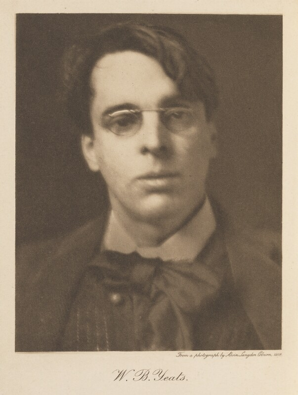 W.B. Yeats, by Alvin Langdon Coburn, 24 January 1908 - NPG Ax35903 - © The Universal Order