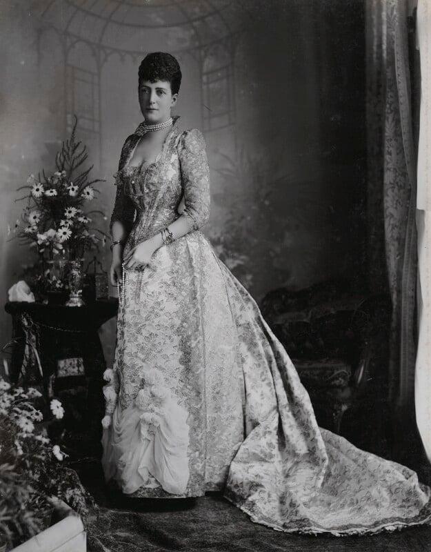 Queen Alexandra, by Lafayette, 1893 - NPG Ax36403 - © National Portrait Gallery, London