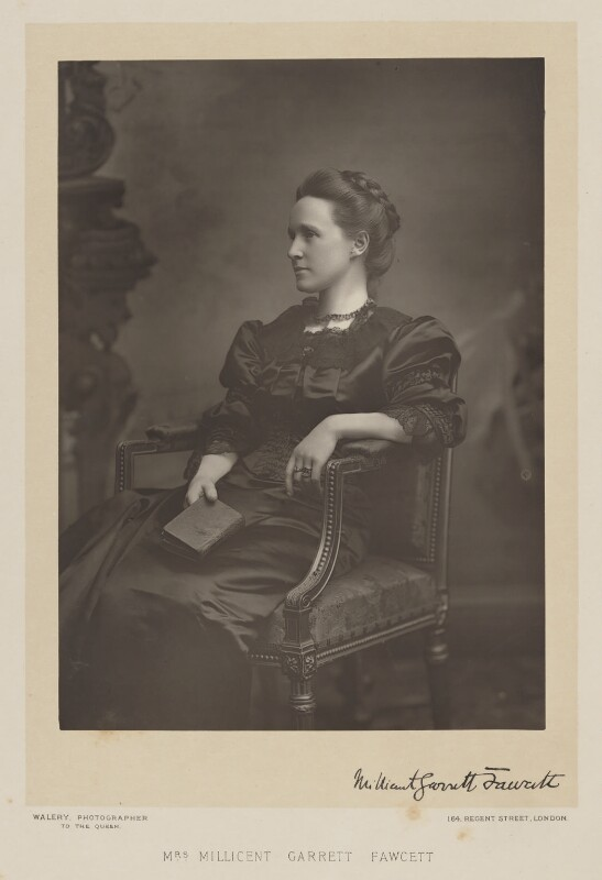 Dame Millicent Fawcett, by Walery, published by  Sampson Low & Co, published September 1889 - NPG Ax38301 - © National Portrait Gallery, London