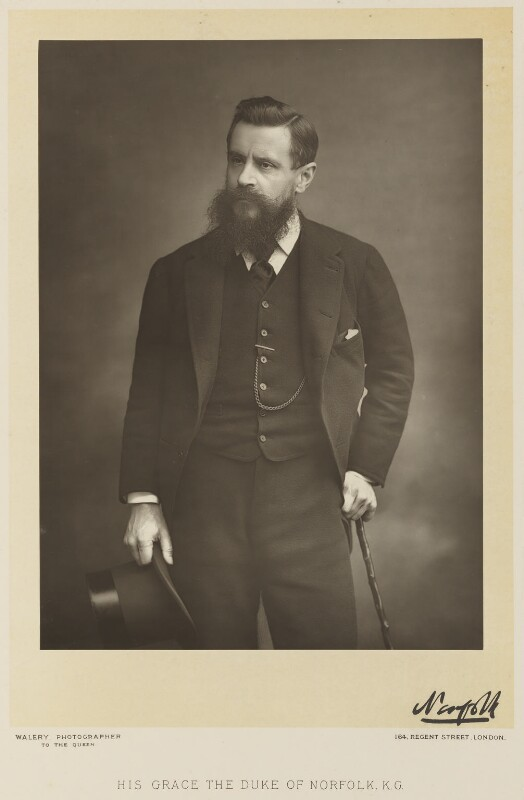 Henry Fitzalan-Howard, 15th Duke of Norfolk, by Walery, published by  Sampson Low & Co, published April 1890 - NPG Ax38323 - © National Portrait Gallery, London