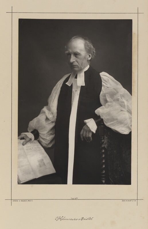 Charles John Ellicott, by Samuel Alexander Walker, printed by  Waterlow & Sons Ltd, published December 1889 - NPG Ax38346 - © National Portrait Gallery, London