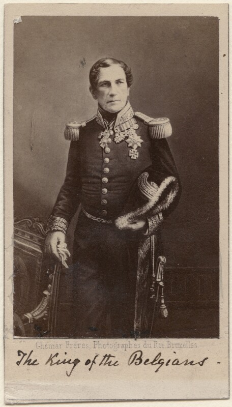 Leopold I, King of the Belgians, by Ghémar Frères, 1860s-1870s - NPG Ax38443 - © National Portrait Gallery, London