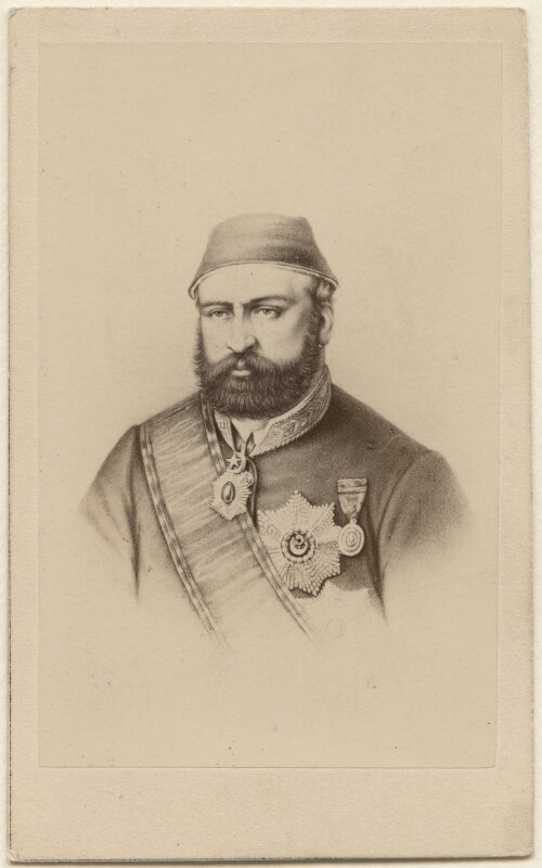 Abdul Aziz, by Neurdein, 1860s - NPG Ax38448 - © National Portrait Gallery, London