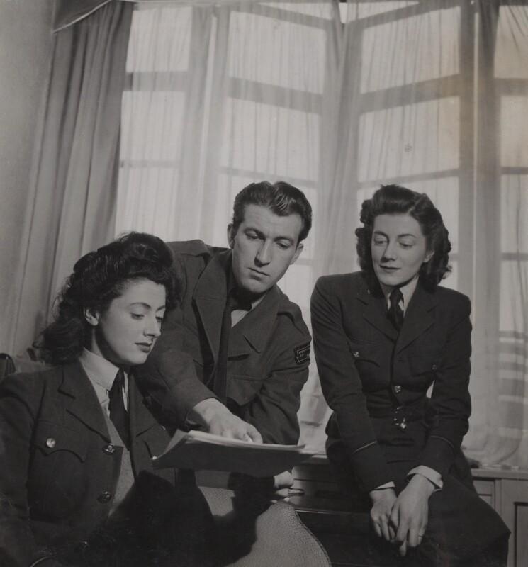 Pauline Growse; Bob Roberts; Sarah Churchill, by Francis Goodman, 28 November 1945 - NPG Ax39591 - © National Portrait Gallery, London