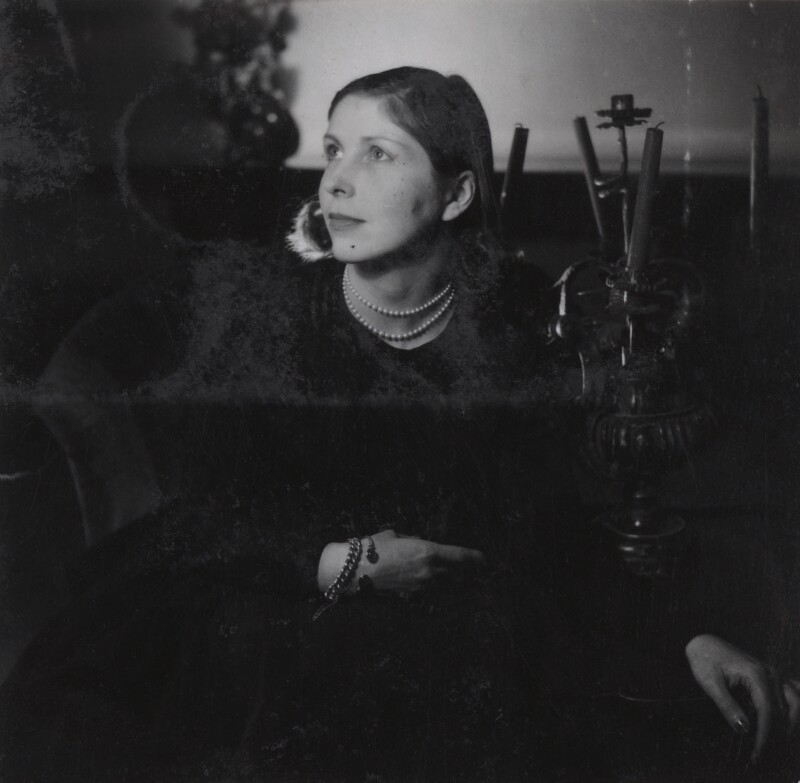 Princess Anne Marie Galitzine (née Slatin, later Ponsonby), by Francis Goodman, circa 1947 - NPG Ax39658 - © National Portrait Gallery, London