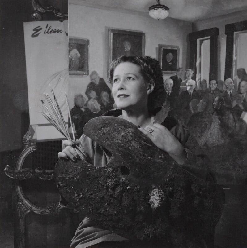 Anna Zinkeisen, by Francis Goodman, late 1940s - NPG Ax39659 - © National Portrait Gallery, London