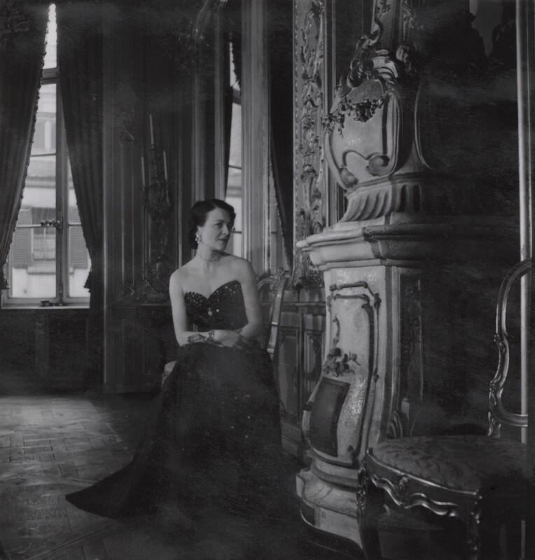 Georgia Sitwell (née Doble), by Francis Goodman, circa 1951 - NPG Ax39664 - © National Portrait Gallery, London