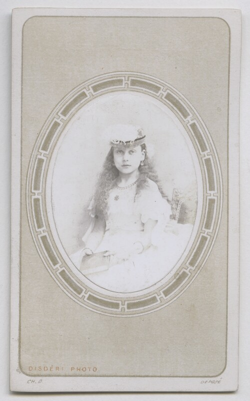Princess Beatrice of Battenberg, by Disdéri, November 1866 - NPG Ax39816 - © National Portrait Gallery, London