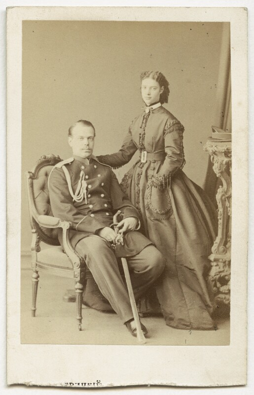 Alexander III, Emperor of Russia; Maria Feodorovna, Empress of Russia (Princess Dagmar), by Unknown photographer, late 1860s - NPG Ax39918 - © National Portrait Gallery, London