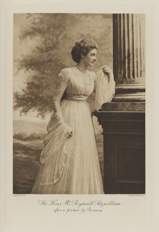 Edith Isabella Georgina Fitzwilliam (née Lane-Fox) after a picture by Romney, by Lafayette, photogravure by  Walker & Boutall, 26 July 1897; published 1899 - NPG Ax41036 - © National Portrait Gallery, London
