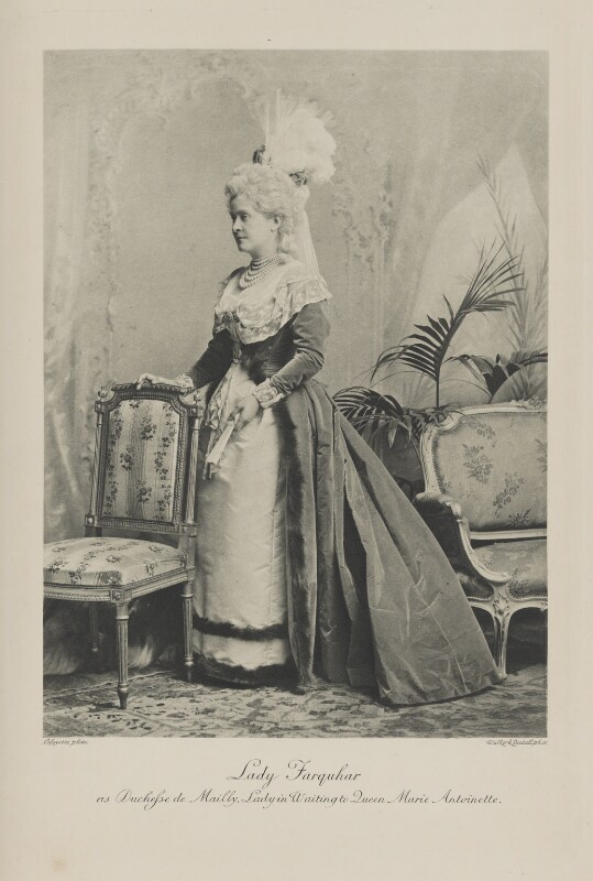 Emilie (née Packe), Viscountess Farquhar as Duchess de Mailly, Lady in Waiting to Queen Marie Antoinette, by Lafayette, photogravure by  Walker & Boutall, 7 July 1897; published 1899 - NPG Ax41040 - © National Portrait Gallery, London