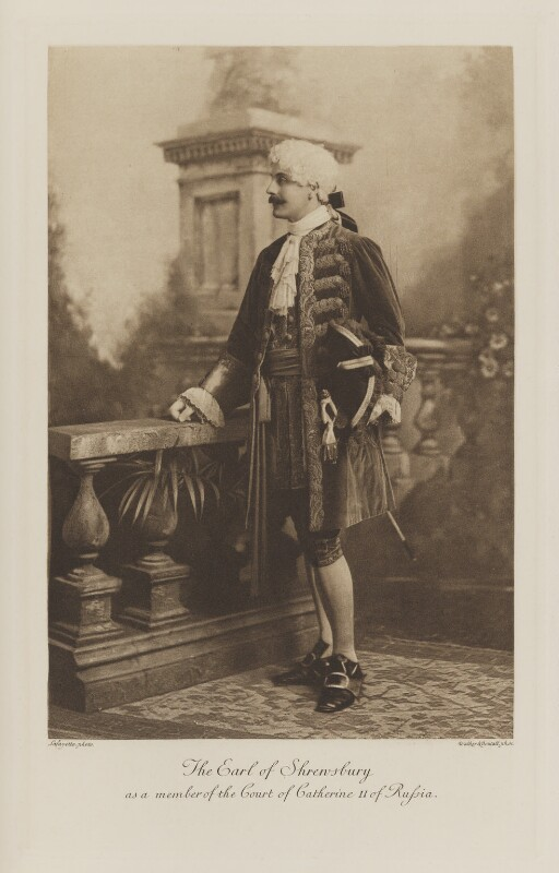 Charles Henry John Chetwynd-Talbot, 20th Earl of Shrewsbury as a member of the Court of Catherine II of Russia, by Lafayette, photogravure by  Walker & Boutall, 1897; published 1899 - NPG Ax41070 - © National Portrait Gallery, London