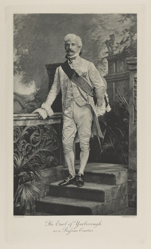 Charles Alfred Worsley Pelham, 4th Earl of Yarborough as a Russian Courtier, by Lafayette, photogravure by  Walker & Boutall, 1897; published 1899 - NPG Ax41125 - © National Portrait Gallery, London