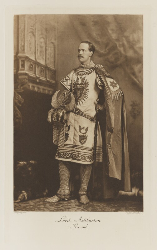Francis Denzil Edward Baring, 5th Baron Ashburton as Geraint, by Lafayette, photogravure by  Walker & Boutall, 1897; published 1899 - NPG Ax41136 - © National Portrait Gallery, London